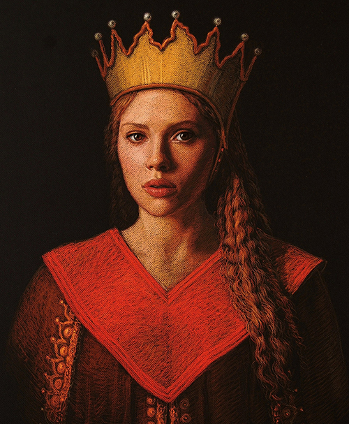 GIRL WITH SCARLET CLOTH